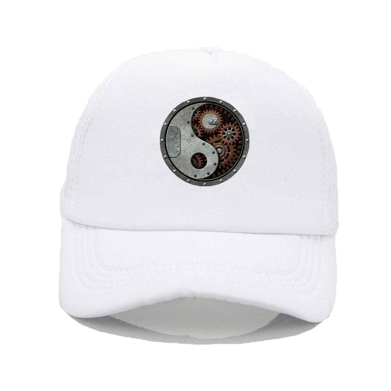 steampunk hat white
