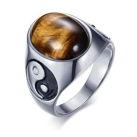 gold tiger eye ring