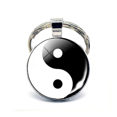 Yin and Yang Keychain