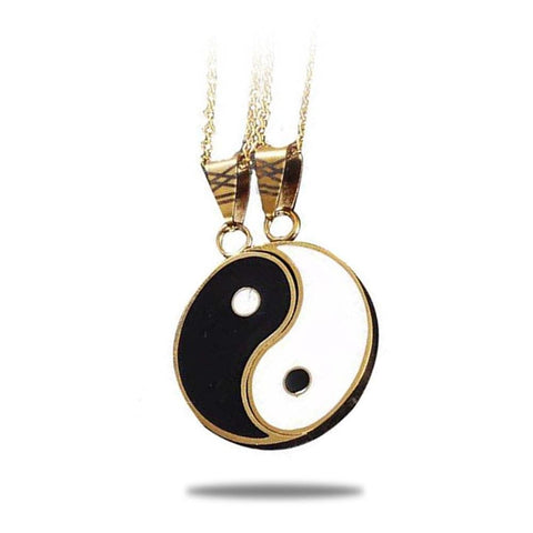 yin and yang necklace 2 piece
