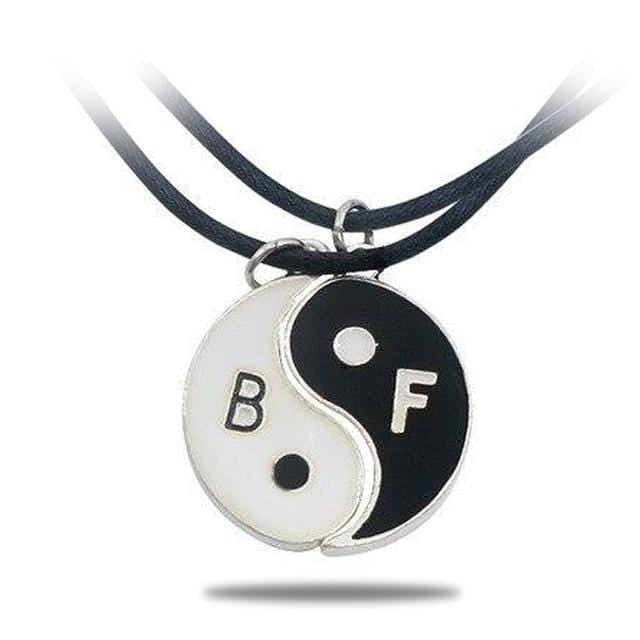 yin yang best friend necklace
