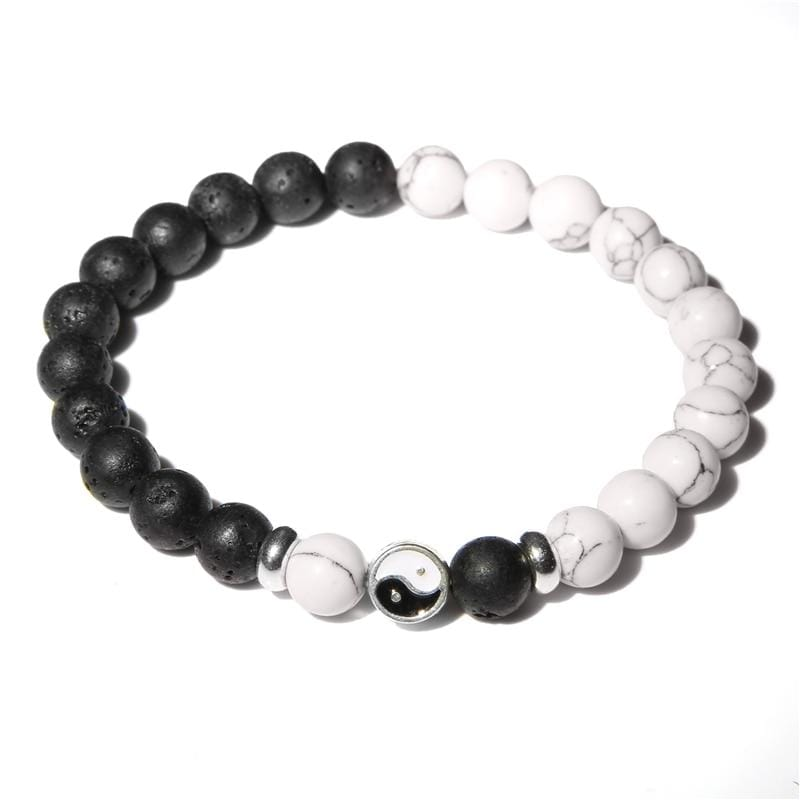 yin yang bracelet black and white