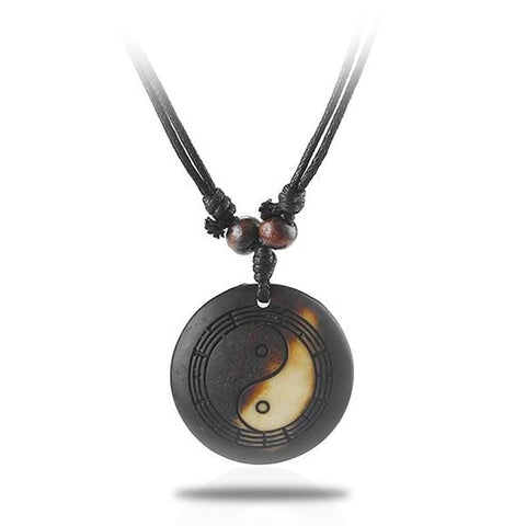 yin yang charm necklace
