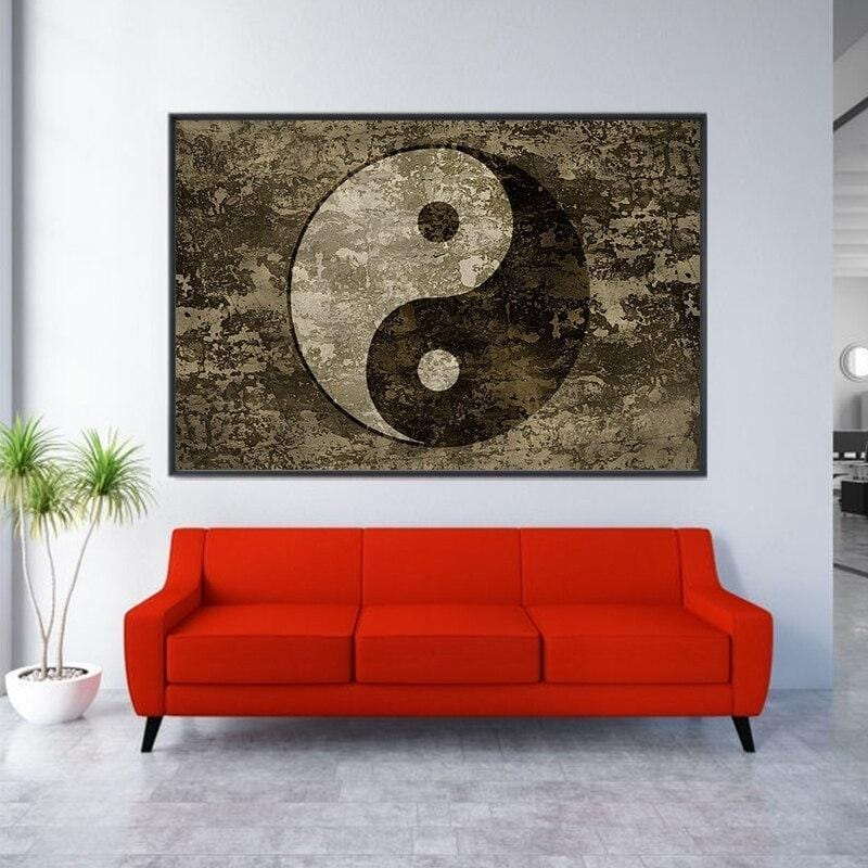 yin yang painting ideas