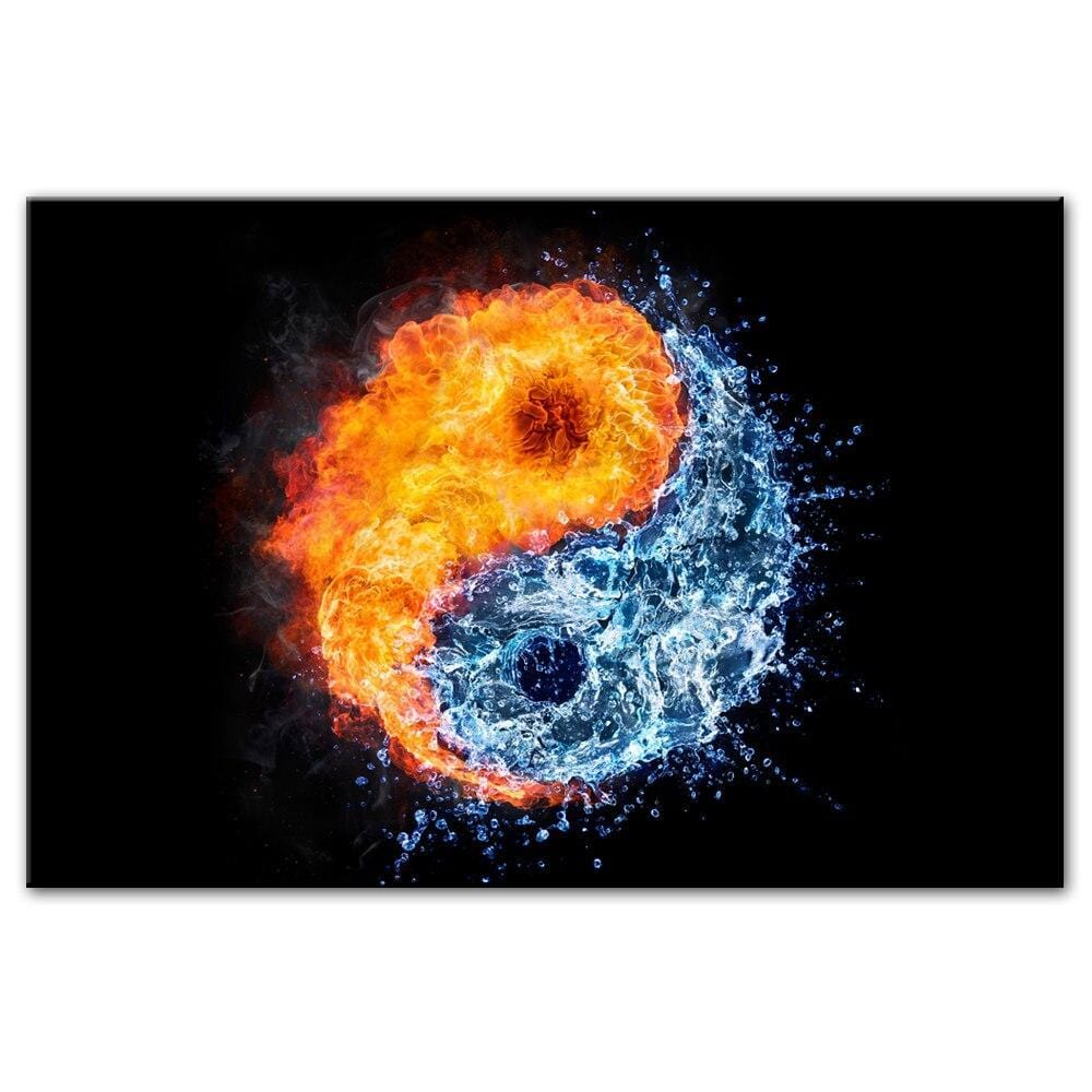 yin yang art fire water