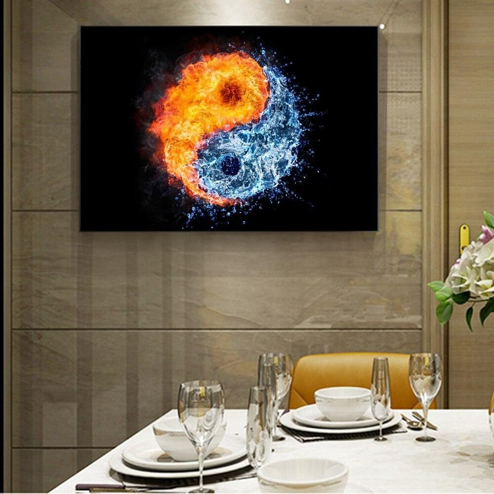 yin yang canvas painting
