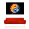 fire and ice yin yang painting