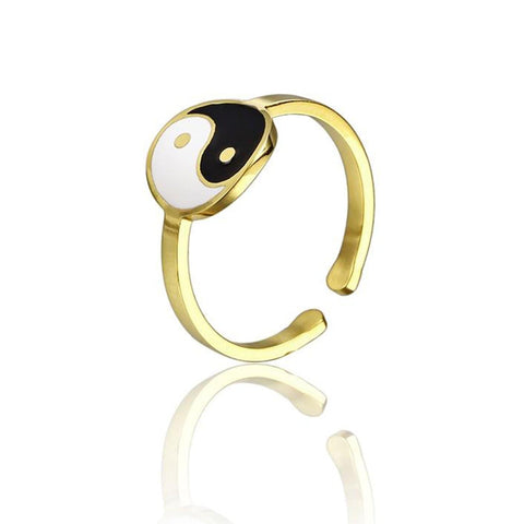 women yin yang ring