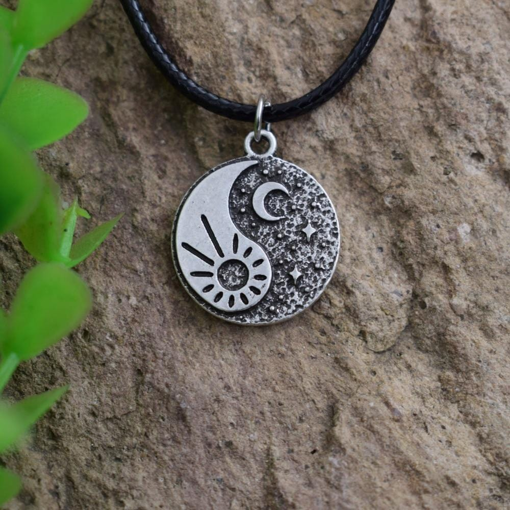 gold sun and moon necklace