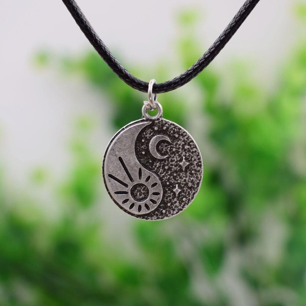 Yin Yang Sun and Moon Necklace