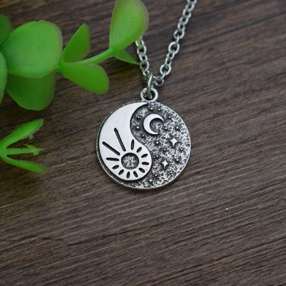 sun and moon couple necklace