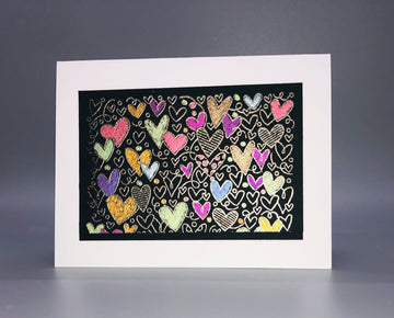 Metallic Watercolor Hearts