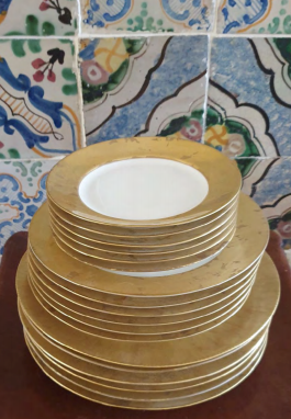 Gold Leaf Porcelain Plates
