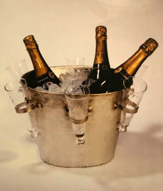 Ideal Wedding Gift: Champagne Bucket: with 6 glasses