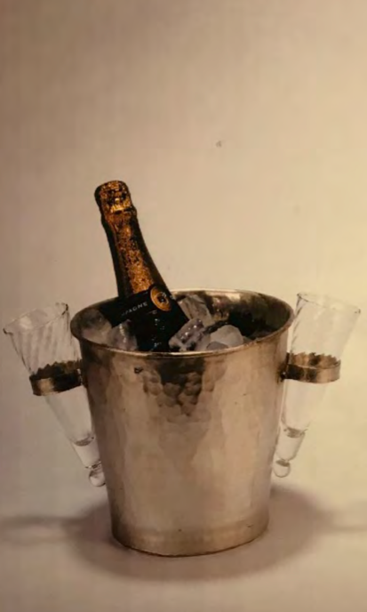 Ideal Wedding Gift: Champagne Bucket: with 2 glasses