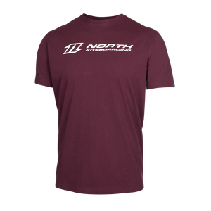 Solid maroon North Kiteboarding logo T-shirt