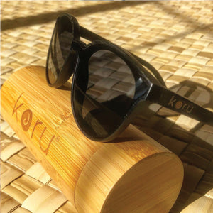 Koru KAT Bamboo Floating Sunglasses with Bamboo Case - 321Kiteboarding & Watersports