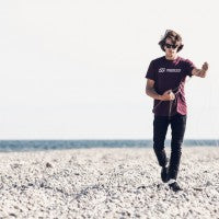 Action shot of North kiteboarding T-shirt
