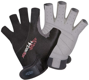 Hyperflex 3/4 finger glove black - 321Kiteboarding & Watersports