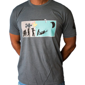 Kiteboarding T-Shirt Born To Kite Design - 321Kiteboarding & Watersports