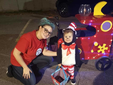 Cat in the Hat Stroller Wagon Costume
