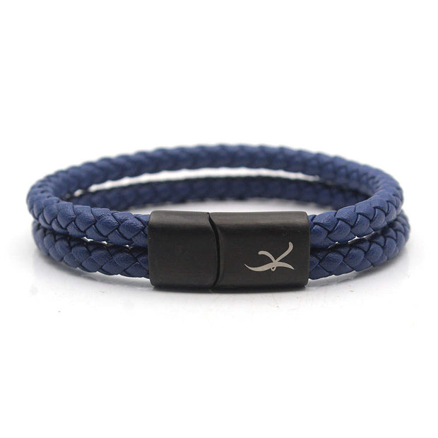 Luxury Men's Bracelet – Double Blue