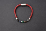 Healing Bracelet – Single Red with Natural gemstones