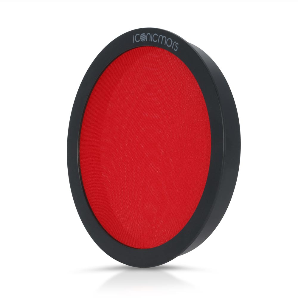 retro red dual pop filter