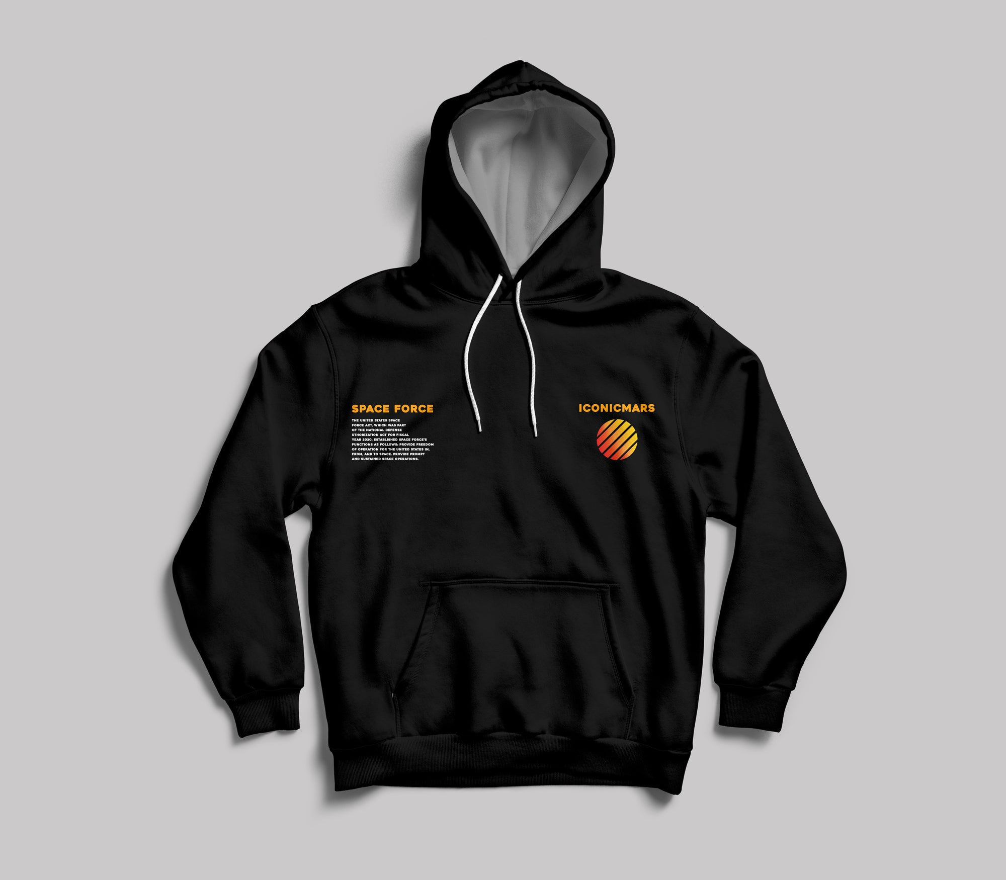 Space Force Pullover Hoodie - Iconic Mars