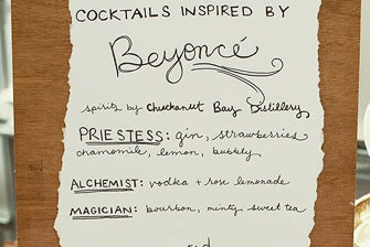 Drink Menu Inspired by Beyonce?