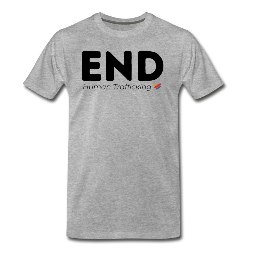 END Human Trafficking T-Shirt - heather gray
