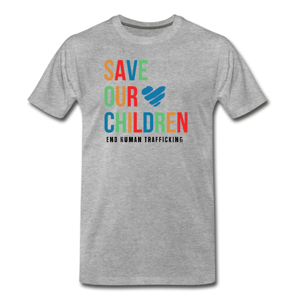 Save Our Children T-Shirt - heather gray