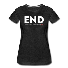 Load image into Gallery viewer, END Human Trafficking  T-Shirt  - womens - charcoal gray