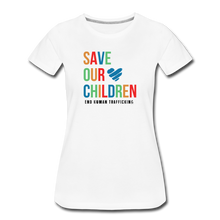 Load image into Gallery viewer, Save Our Children T-Shirt - white