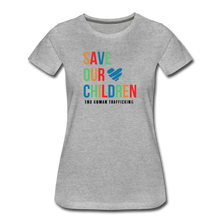 Load image into Gallery viewer, Save Our Children T-Shirt - heather gray