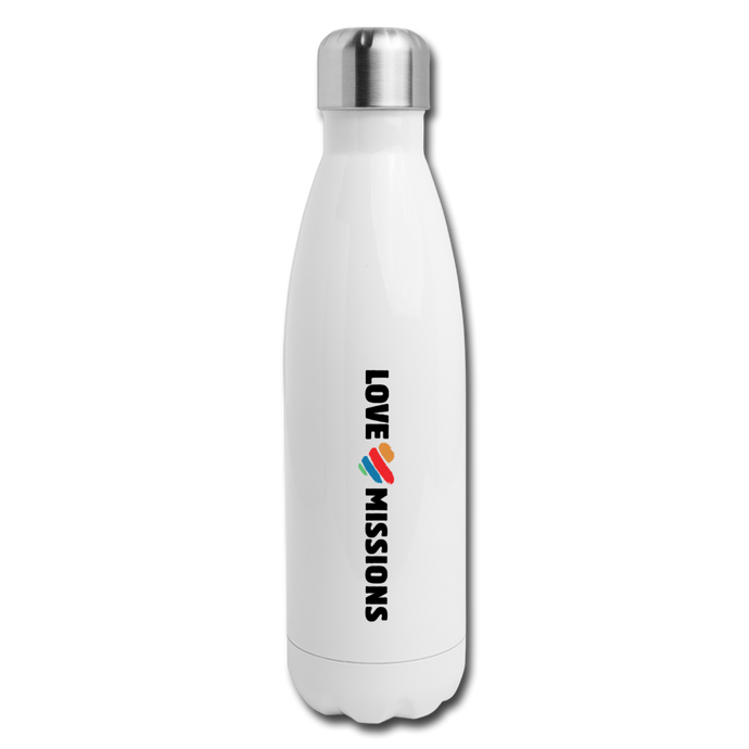 Love Missions Water Bottle - white