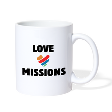 Load image into Gallery viewer, Love Missions Coffee Mug - white