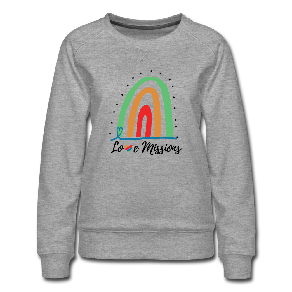 Love Missions Rainbow Sweatshirt - heather gray