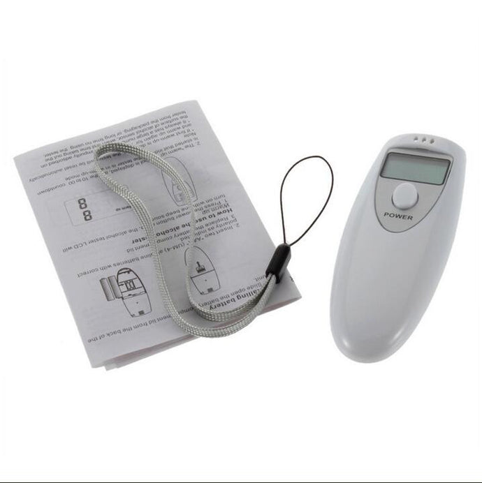 Digital Alcohol Breathalizer Tester Analyzer Detector Keychain