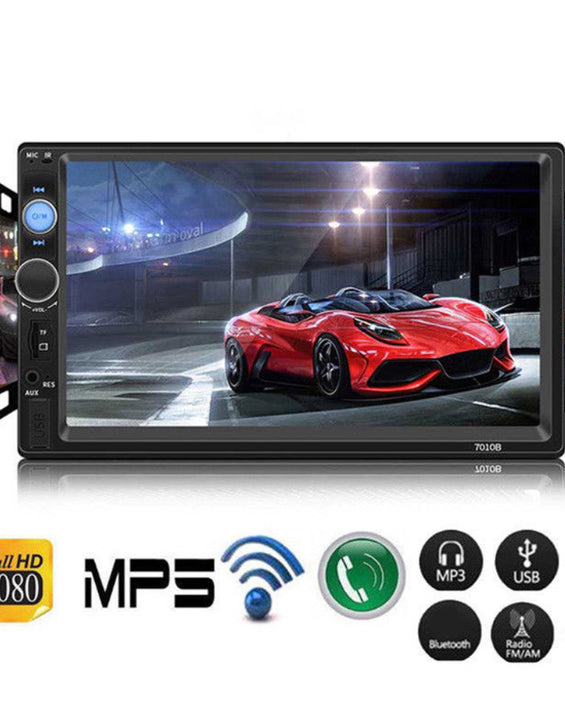 7010B 2DIN Car Radio Bluetooth 7 Inch HD Stereo Reversing Image USB MP5 Player
