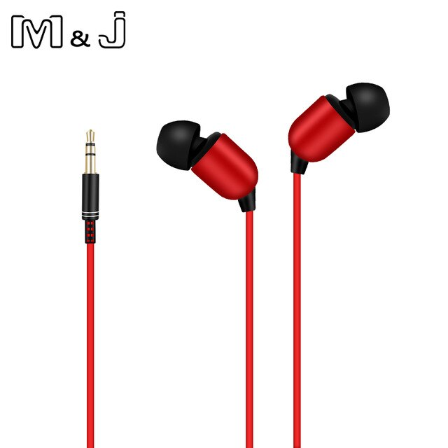 M&J 3M Earphone Monitor Headphones With Long Wire 3.5mm Gilded HiFi Stereo Universal Auricular For iPhone Huawei Xiaomi Computer