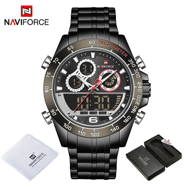 NAVIFORCE Luxury Gold Watches Mens Military Sport Quartz Digital Chronograph Wrist watch Waterproof Clock Male Relogio Masculino