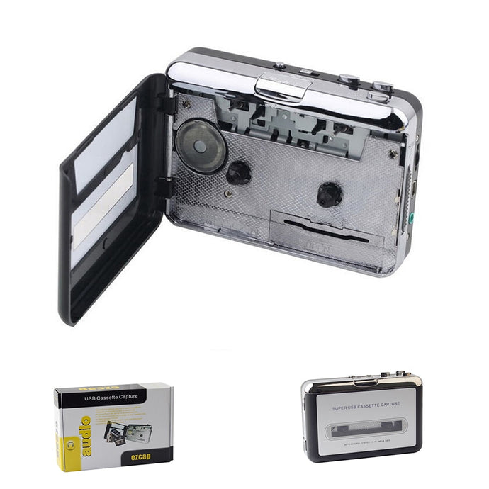 USB Cassette Player Cassette to MP3 Converter Capture Music Player Cassette Tape Recorder Support Windows 7/8