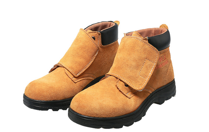 Suede Leather Work Shoes Anti - Smash Anti - Puncture Safety Shoes