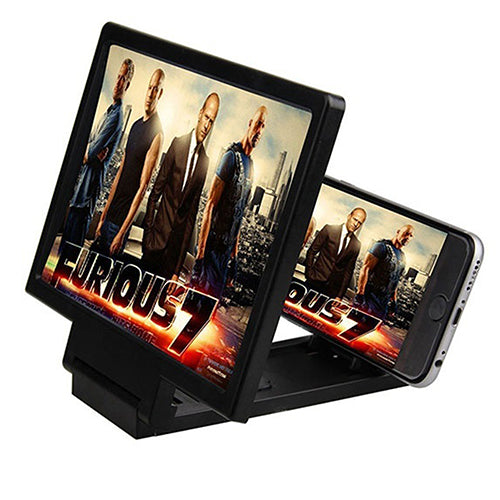 Mobile Phone 3D Screen Amplifier Magnifying Glass HD Stand for Video