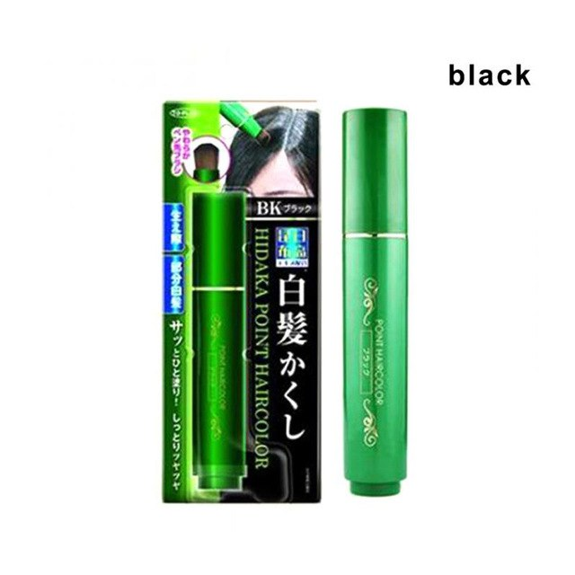 White Hair Cover Pen Disposable Natural Herb Hair Color Pencil Long-Lasting Disposable Hair Dye Cream Mild Fast One-off black