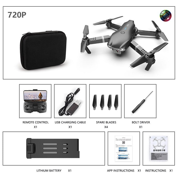 S602 Mini Drones Folding Aircraft 4K HD WIFI Camera Photography FPV Professional Real-time Transmission Ramote Control Toy Gift