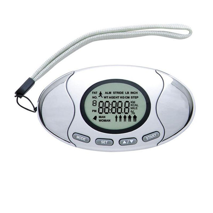 Step Counter Walking 3D Digital Pedometer with Strap Accurately Track Steps and Miles Multi-Function Pocket Pedometer