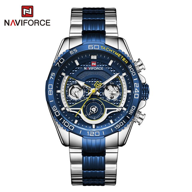 Original NAVIFORCE Men Watch Luxury Casual Sport Steel Band Clock Waterproof Military Quartz Wristwatches Male Relogio Masculino