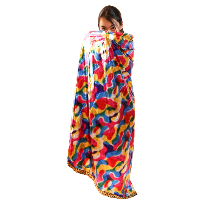 Kids Size Colorful Magical Magicians High Collar Cape